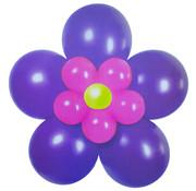 Folat Ballonnen Bloem Paars/Roze/Geel