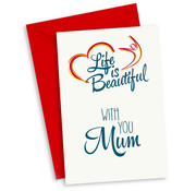"Miko Life is Beautiful Kaart ""With you Mum"""