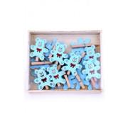 PartyXplosion Knijpertjes met blauw beer 19 stuks