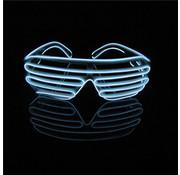 Joni's Glow-Shop El Wire Shutter bril Wit - El Wire Shutter glasses White
