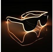 Joni's Glow-Shop El wire bril Oranje - El wire glasses orange