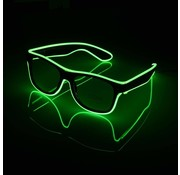 Joni's Glow-Shop El wire bril groen - El wire glasses green