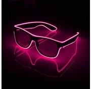 Joni's Glow-Shop El wire bril Roze- El wire glasses Pink