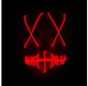 Joni's Glow-Shop El Wire Spook masker Rood - El Wire Ghost mask Red