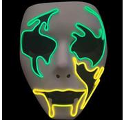 Joni's Glow-Shop El wire maker Rocker groen/geel - El wire mask Rocker Green-yellow