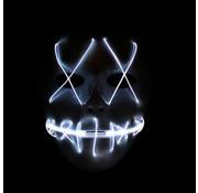 Joni's Glow-Shop El Wire Spook masker Wit - El Wire Ghost mask White