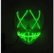 Joni's Glow-Shop El Wire Spook masker Limoen groen - El Wire Ghost mask Lime green