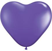 Joni's Winkel Ballonnen hartjes Paars 8 stuks 18 cm
