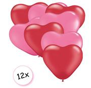 Joni's Winkel Ballonnen Hart Rood & Roze 12 stuks 26 cm