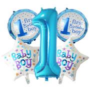 Joni's Winkel Ballonnen set First birthday boy 5 ballonnen