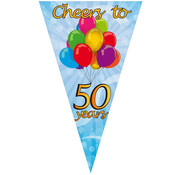 PartyXplosion Mega puntvlag cheers 50 years