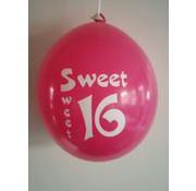Joni's Winkel Ballonnen Sweet 16 multi 8 stuks 30 cm