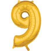 Joni's Winkel Folieballon 9 Goud 35 cm