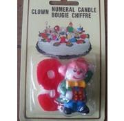 Kaars 9 clown