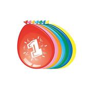 Comedia Ballonnen 1 jaar 8 stuks 30 cm