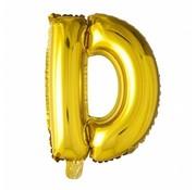 Joni's Winkel Folieballon D Goud 35 cm