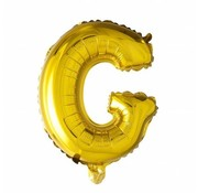 Joni's Winkel Folieballon G Goud 35 cm