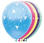 Folat Ballonnen getal 4 & Confetti 5 stuks 30 cm