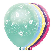 Folat Ballonnen getal 8 & Confetti 5 stuks 30 cm