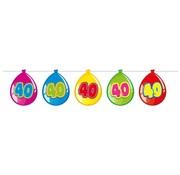 Folat Vlaggenlijn Ballonnen 40 jaar 10 meter