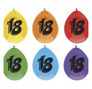 Haza Original Ballon 18 jaar Multi/Zwart 6 stuks 30 cm
