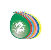 Comedia Ballonnen 2 jaar 8 stuks 30 cm