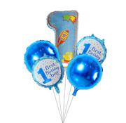 Joni's Winkel Ballonnen set First birthday boy blauw