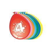 Comedia Ballonnen 4 jaar 8 stuks 30 cm