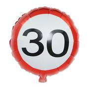 Joni's Winkel Folieballon verkeersbord 30 45 cm