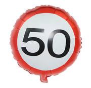 Joni's Winkel Folieballon verkeersbord 50 45 cm