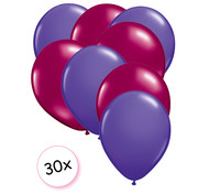 Joni's Winkel Ballonnen Paars & Fuchsia 30 stuks 27 cm