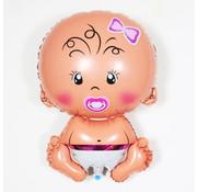 Joni's Winkel Folieballon Baby meisje 44x22cm