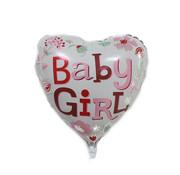 Joni's Winkel ballon baby girl hart