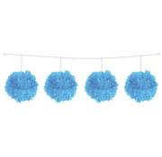 Folat Slinger Pompom Licht blauw 3 meter