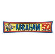 Straatbanner Abraham 40 x 180 cm