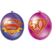 Ballonnen Super Sarah 10 stuks 30 cm