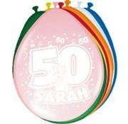 Ballonnen Hoera Sarah 8 stuks 30 cm