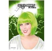 Pruik Bobline Neon Groen