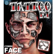 Tinsley Transfers Gezichts Tattoo Cyborg