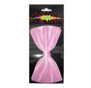 Vlinder strik hologram roze