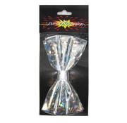 Vlinderstrik hologram zilver
