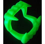 Joni's Glow-Shop Fluor groen vampier gebit