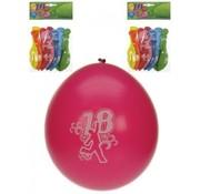 PartyXplosion Ballonnen 18 jr. Feest 8 stuks 30 cm