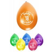 PartyXplosion Ballonnen Happy 18 Birthday 8 stuks 32 cm
