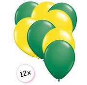 Joni's Winkel Ballonnen Groen & Geel 12 stuks 27 cm