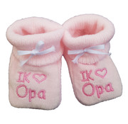 Slofjes: I love opa roze