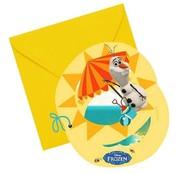Disney Uitnodigingen Olaf 6 stuks