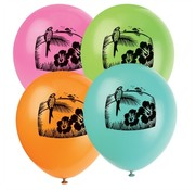 UNIQUE Ballonnen hawaii 8 stuks 30 cm