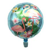 Joni's Winkel Folieballon Flamingo Blauw