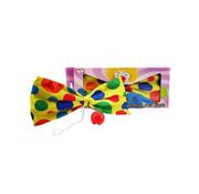 XL Vlinderstrik Clown Met Clowns neus